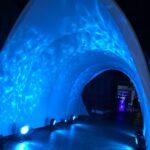Water Effect Light enhanced Tunnel
