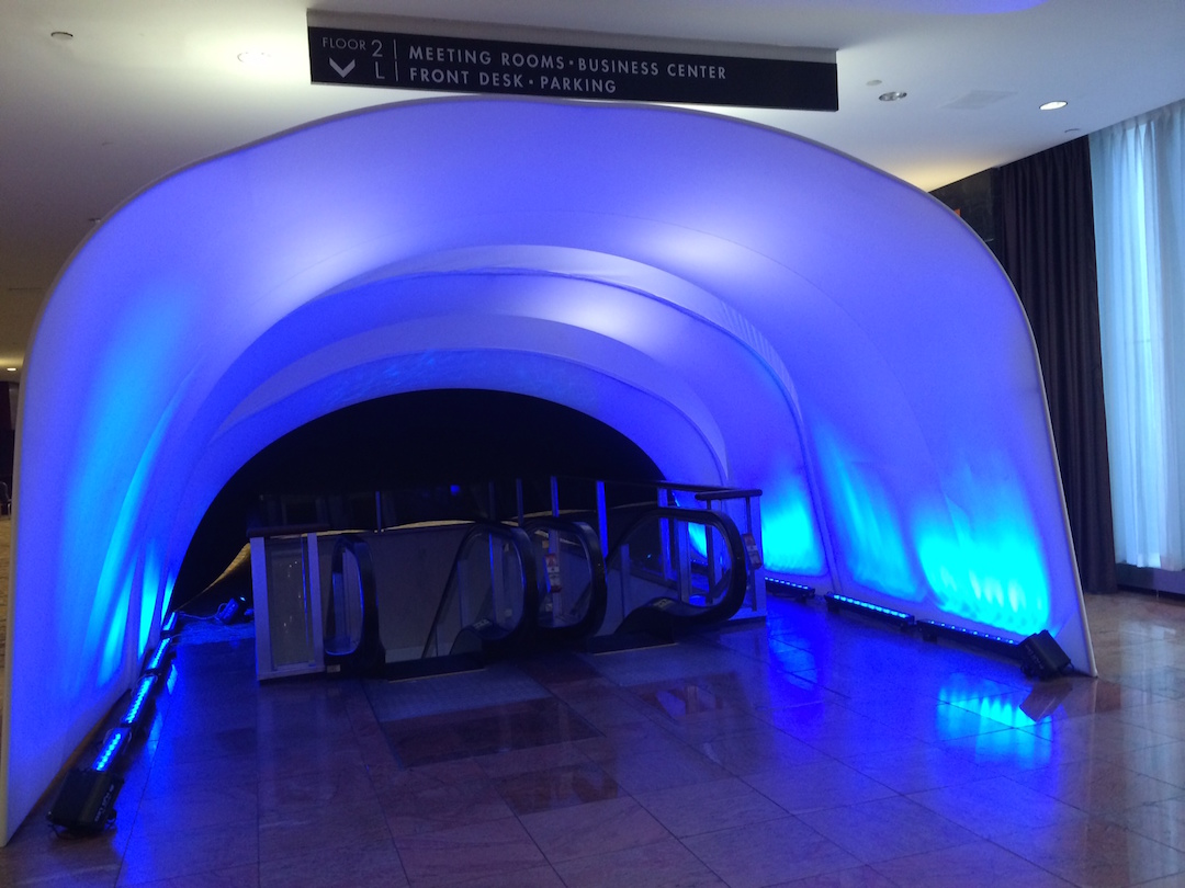 Escalator Nesting Fabric Tunnel