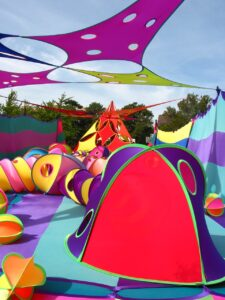 FabricAction Pink Inc.'s Fabric Playscape installation and live activation with sponsorship dollars
