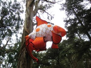 OutsideLands Music and Arts Festival Commission. pink Inc. built 6 giant Carp Chinese Lanterns for this San Francisco Festival in golden Gate Park.