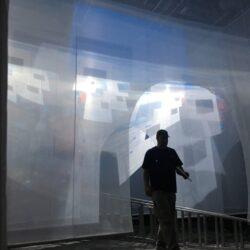 Entry Archways Fabric maze installation Art Basel Miami