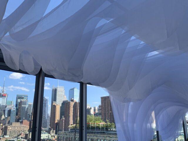 large scale soft sculpture ceiling treatment