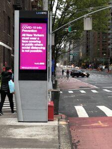 covid crisis kiosk info