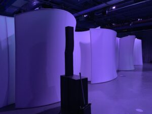 The Walls opened to reveal the full dinner party at the Intrepid Museum NYC