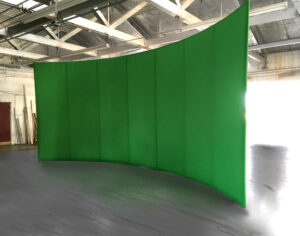 Our Green Screen walls come in all sizes including custom sizes.