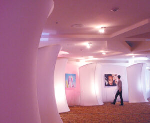 Fabric walls as gallery