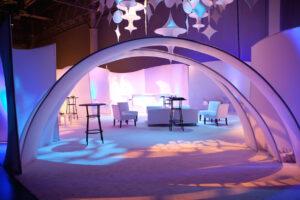 The Originators Design portable walls for VDA Lounge Event Marketing